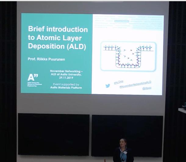 Riikka Puurunen introducing ALD