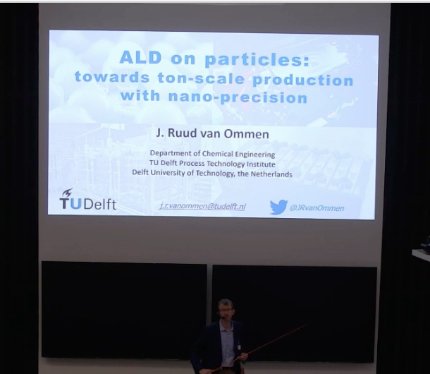 Ruud van Ommen giving the invited lecture